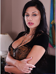 Playful milf Aletta Ocean using her skills and big tits to please a stranger