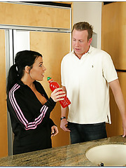 Perfect milf Vanilla DeVille practicing sports and fucking with her coach