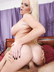 Irresistible blonde Alexis Ford fingering wet snatch and tasting a dick