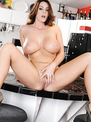 Fashionable flapper Alison Tyler loves working with big rods and riding them