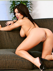 Skillful babe Sienna West gets ready for a hard dagger and reaches orgasm