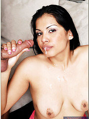 Fancy bitch Amina Amore accepts only hardcore penetration and cumshots