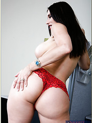 Radiant babe Sheila Marie showing massive ass and banging in office