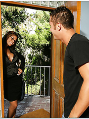 Brave milf Bridgette B knows exactly how to please her lovely boyfriend