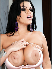 Lovely milf Angelina Castro works only with big cocks and gets fully pleased