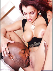 Spoiled milf Tiffany Torres invited her friend and tasted his black dick