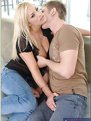 Seductive milf Shyla Stylez knows exactly how to please her boyfriend