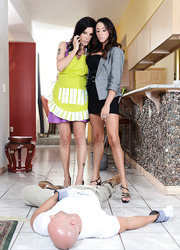 Ariella Ferrera and Shay Sights could not resist and called their ex boyfriend