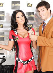 Brunette sweetie Jessica Jaymes gets fucked hard on her favorite quadricycle