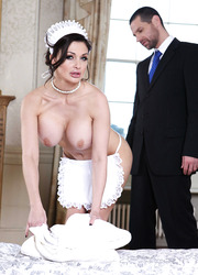 Incredible fuck with a fabulous brunette maid named Aletta Ocean