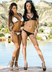 Hot and busty Milfs Madison Ivy and Alektra Blue pleasing each other