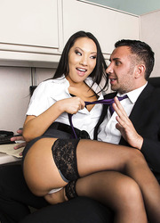 Amazing interracial threesome with hot babes Diamond Jackson and Asa Akira