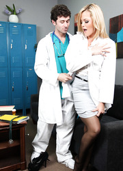 Young doctor came to present amazing hardcore pleasure for busty milf Alexis Texas