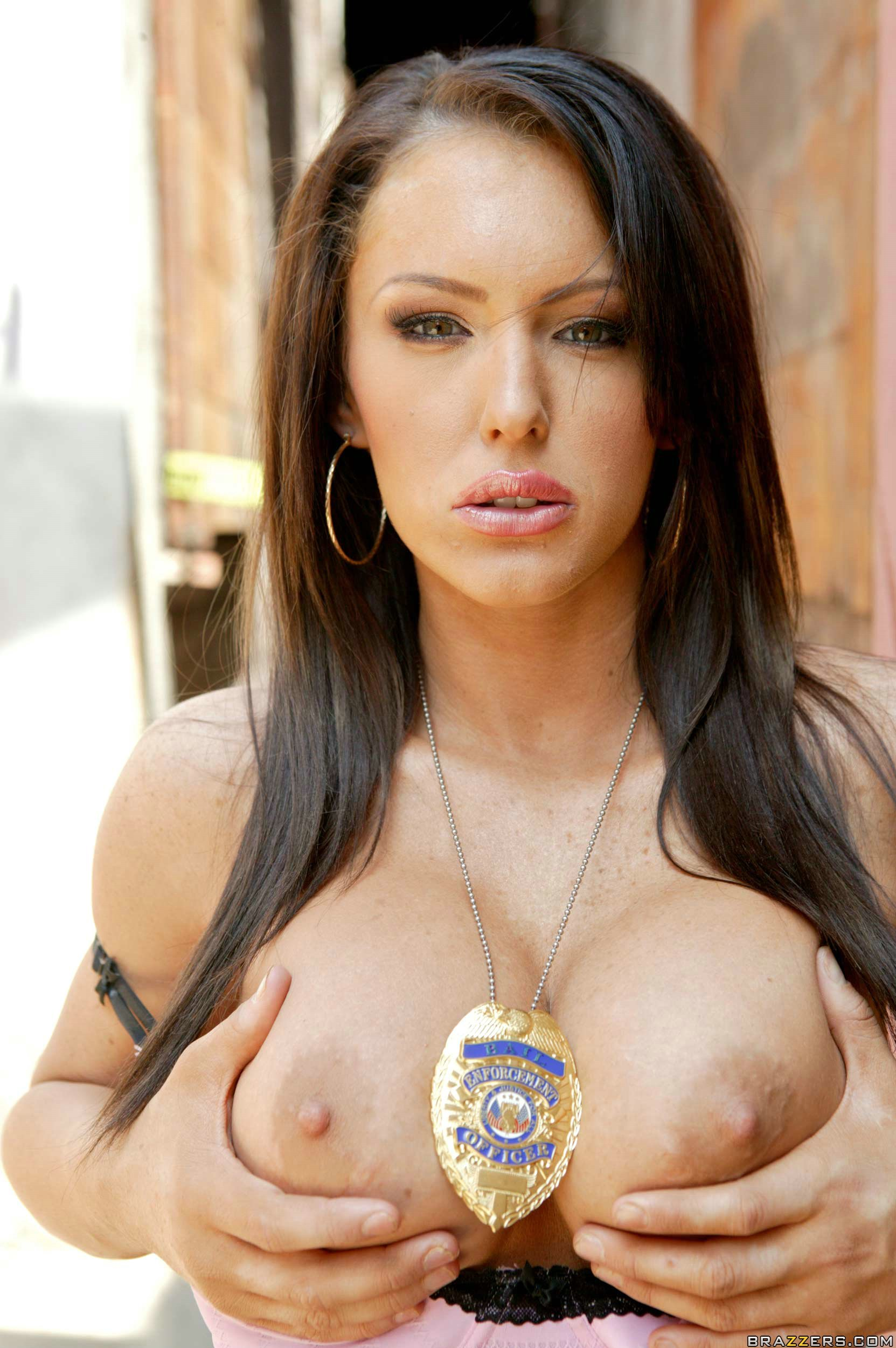 Gorgeous brunette with amazing tits when 10
