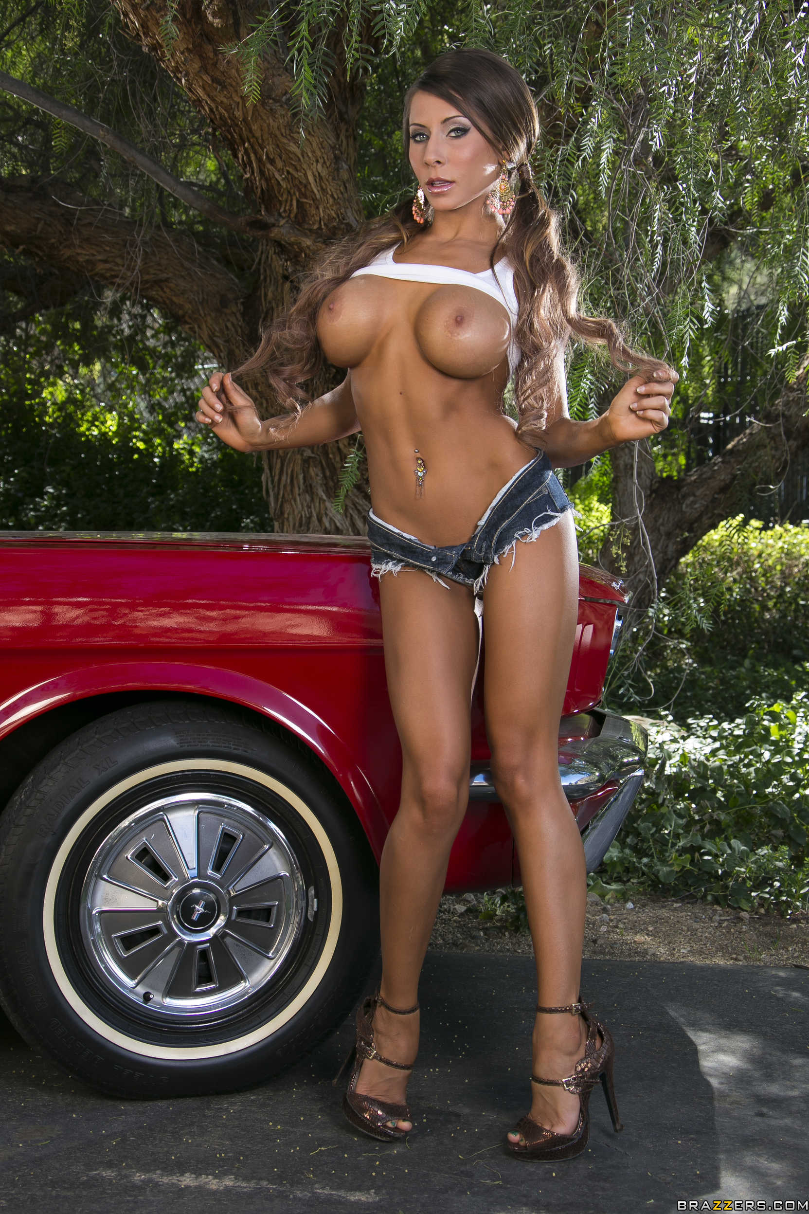 Madison ivy red car