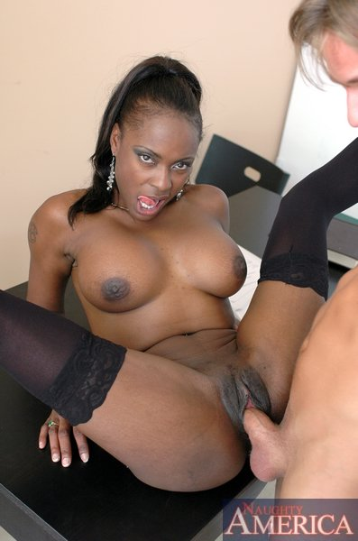 Busty ebony milf midori in hot anal action 4