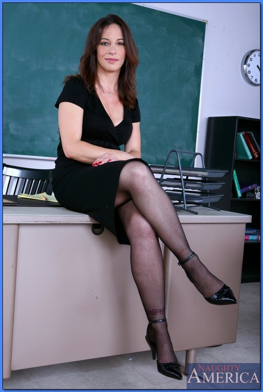 Hot mature teacher seduce her student - 1 part 8